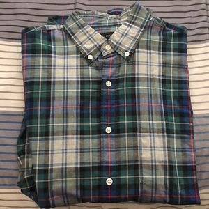 Jcrew plaid button up shirt